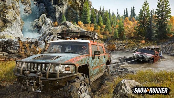 Uno screenshot di Snowrunner