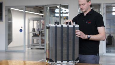 Uno stack, ossia la Fuel Cell per un'auto elettrica a idrogeno (FCEV)