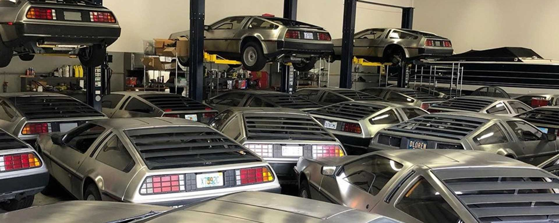 Uragano Dorian: le DeLorean vengono messe al sicuro