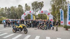 V-Strom Day: la partenza dalla sede di Suzuki Italia a Robassomero (TO)