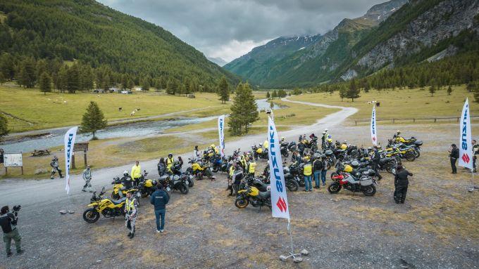 V-Strom Day: l'arrivo in Valle Argentera