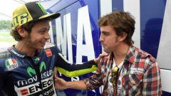 Valentinno Rossi e Fernando Alonso