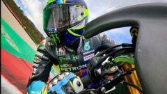 Valentinno Rossi si allena al Mugello con una Yamaha R1