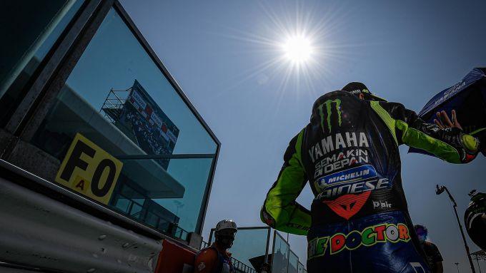 Valentino Rossi al via del Gran Premio di San Marino e della Riviera di Rimini 2020