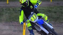 Valentino Rossi,, caduta con la moto da enduro