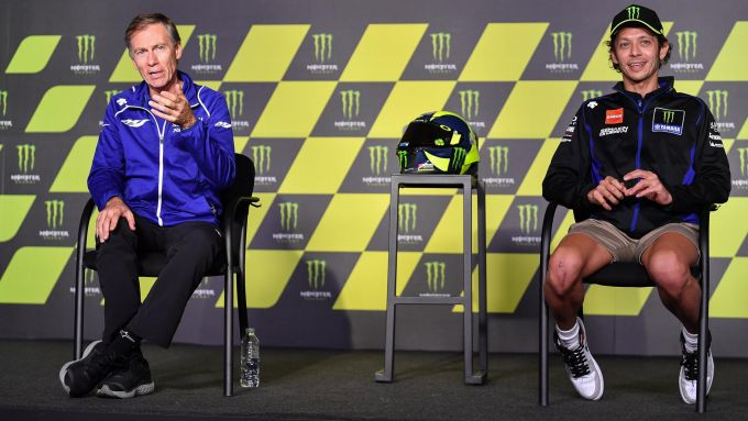 Valentino Rossi e Lin Jarvis (Yamaha)