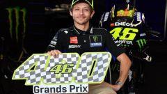 Valentino Rossi festeggia i 400 GP nel Motomondiale