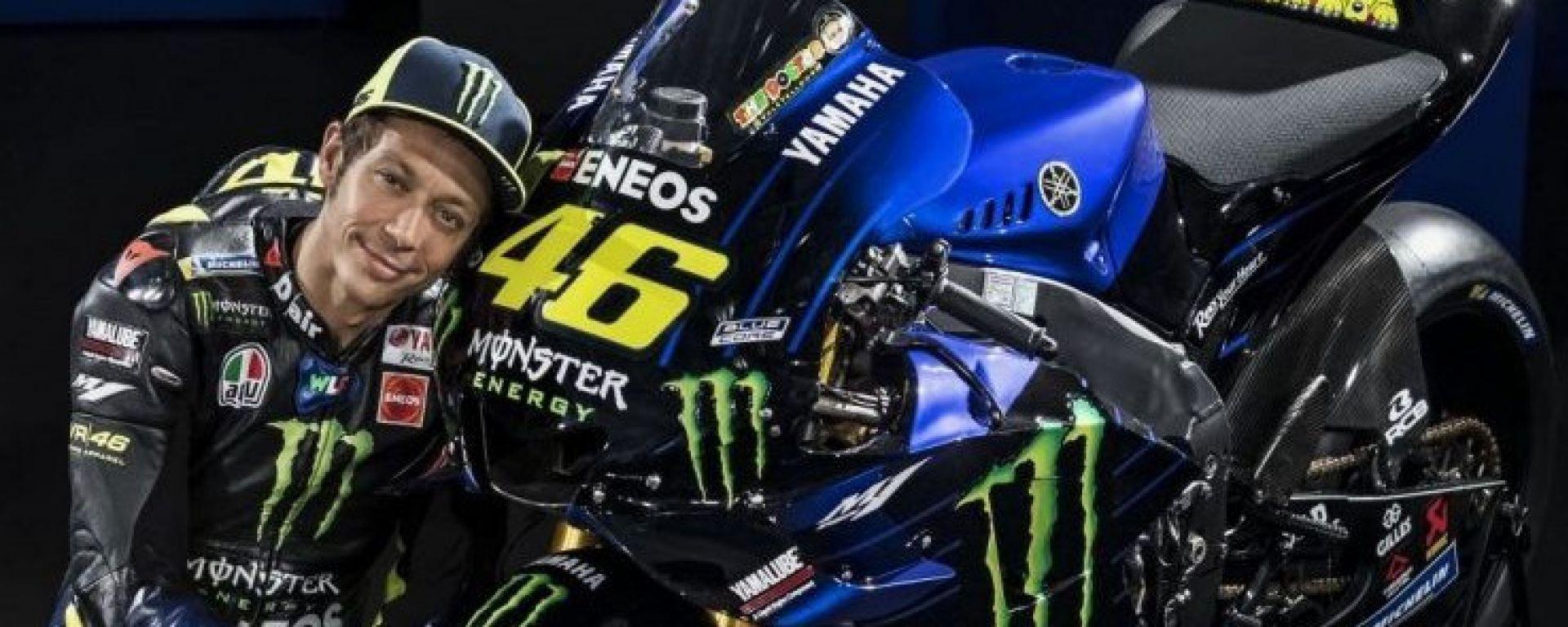 Valentino Rossi il giorno della presentazione della stagione Yamaha 2019