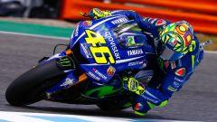 Valentino Rossi in azione in Spagna