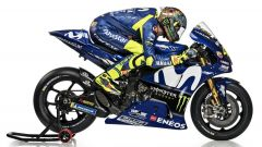 Valentino Rossi in carena sulla Yamaha M1 2018