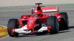 Valentino Rossi in Ferrari, il test del 2005