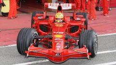 Valentino Rossi in Ferrari, in azione al Mugello 2008