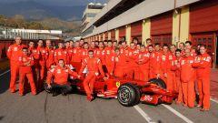 Valentino Rossi in Ferrari, tutto il personale addetto al test 2009