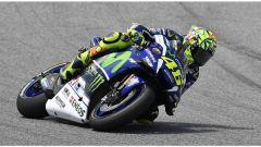 Valentino Rossi in prova a Catalunya
