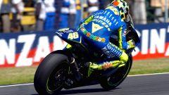 Valentino Rossi in sella alla Yamaha M1 nel 2004