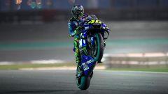 Valentino Rossi in sella alla Yamaha M1