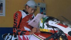 Valentino Rossi in Sport Production con la Cagiva
