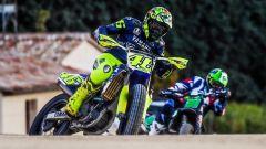 Valentino Rossi nel suo Moto Ranch di Tavullia