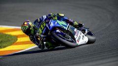 Valentino Rossi su Yamaha in azione