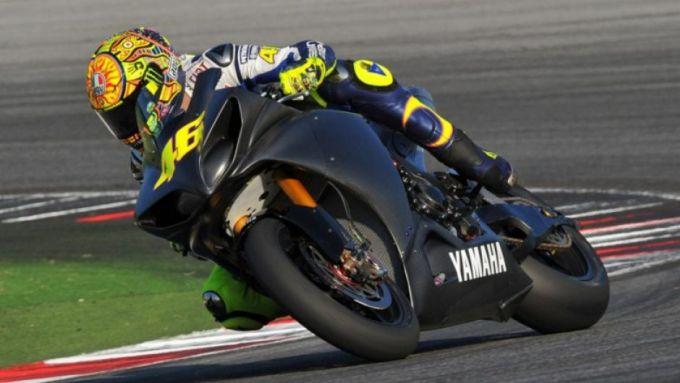 Valentino Rossi sulla Yamaha R1 WSBK nel 2018