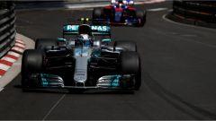 Valtteri Bottas a bordo della sua Mercedes - F1 2017 GP Monaco