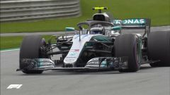 Valtteri Bottas con la Mercedes