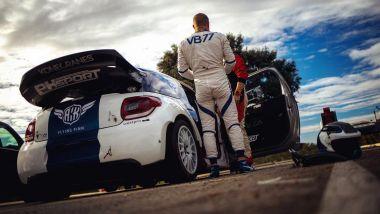 Valtteri Bottas e la sua Citroen DS3 WRC