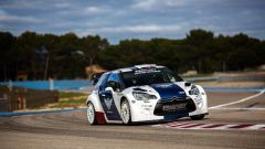 Valtteri Bottas impegnato al volante della Citroen DS3 WRC nel test disputato al Paul Ricard