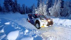 Valtteri Bottas impegnato nell'Arctic Rally 2020