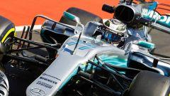 Valtteri Bottas in azione sulla Mercedes W08