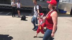 Verso il paddock Ferrari