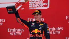 Verstappen festeggia sul podio