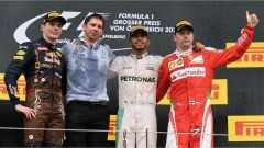 Verstappen, Hamilton e Raikkonen sul podio del GP Austria