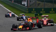Verstappen in lotta con Raikkonen - GP Belgio