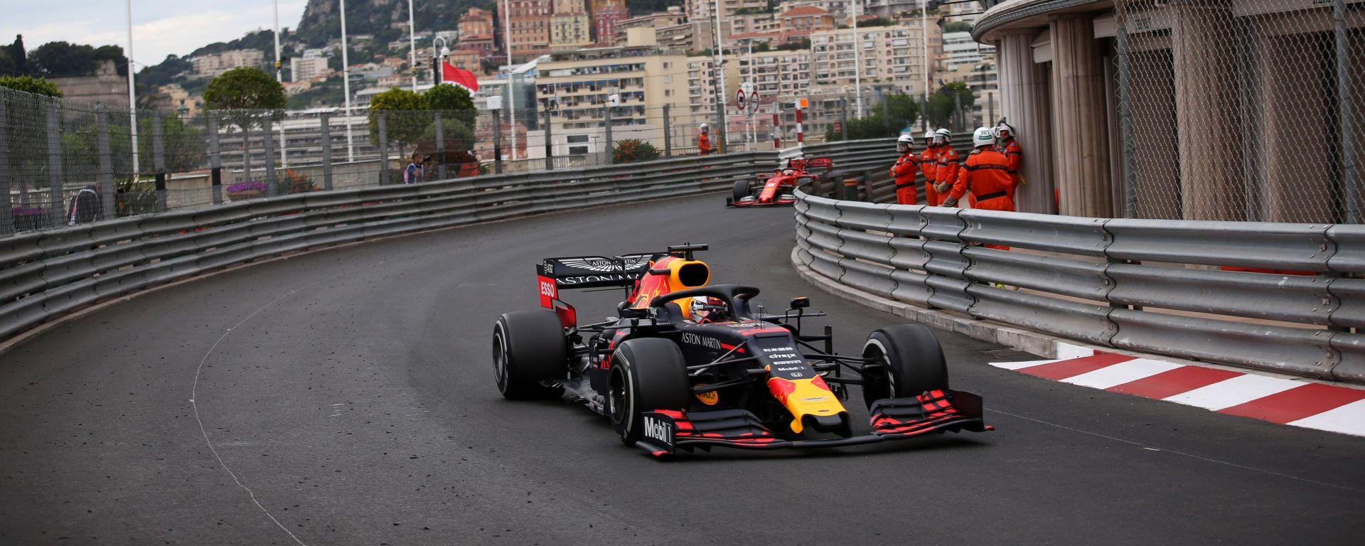 Verstappen in pista a Monaco