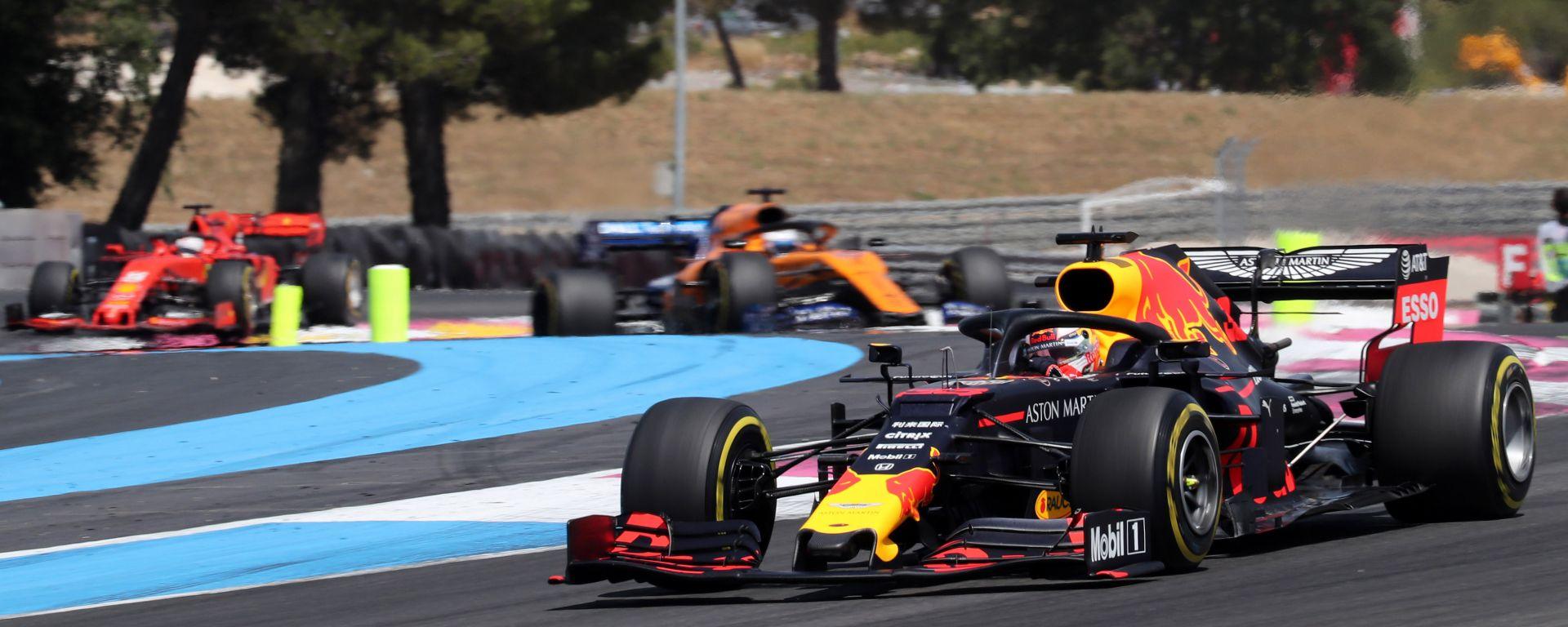 Verstappen in pista in Francia