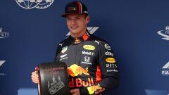 Verstappen (Red Bull) dopo la prima pole in Ungheria