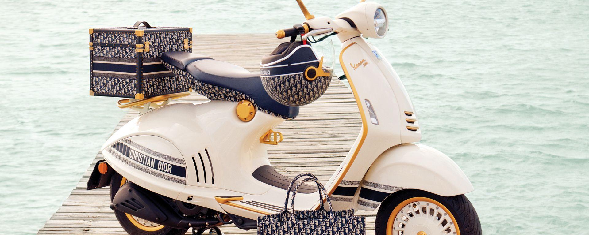Vespa 946 Christian Dior con tutti gli accessori