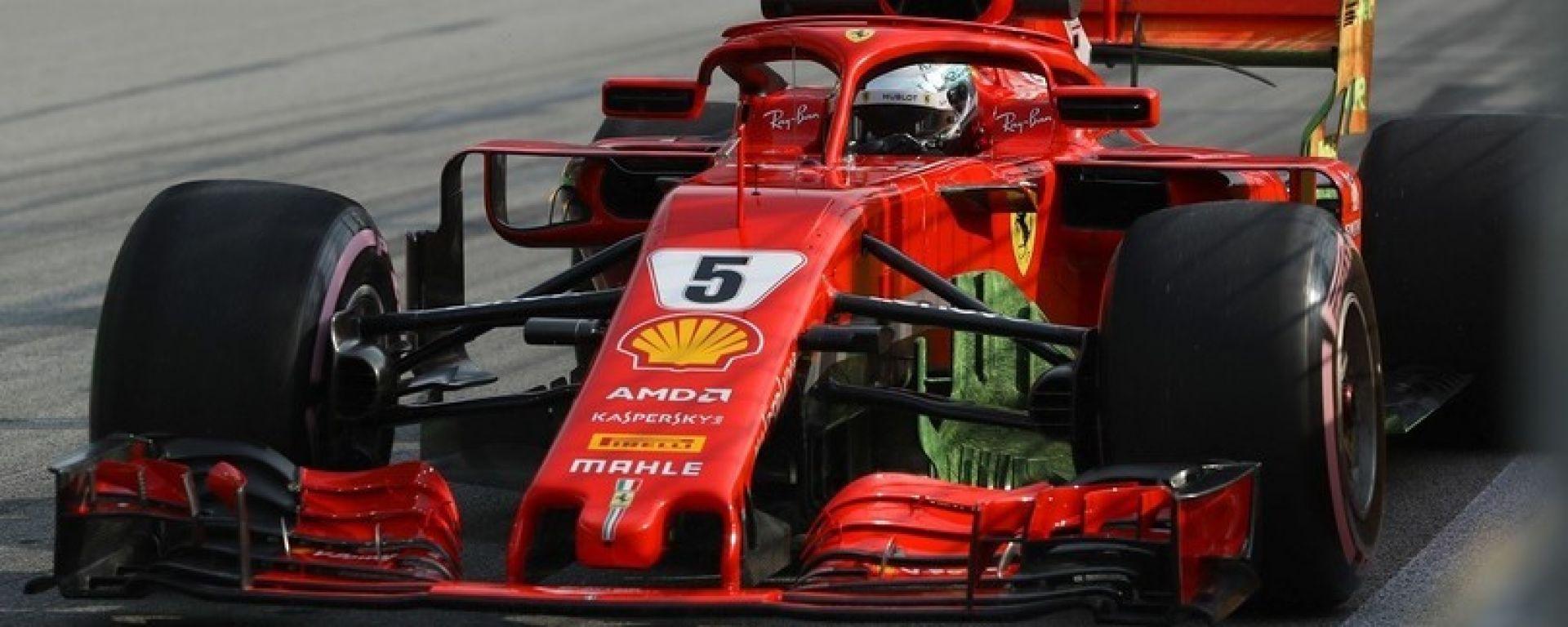 Vettel a muro in FP2, alla faccia degli 'errori da evitare', ecco le sue parole