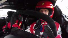 Vettel alla guida della Ferrari FXX K - Immagine: 7
