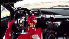 Vettel alla guida della Ferrari FXX K - Immagine: 1