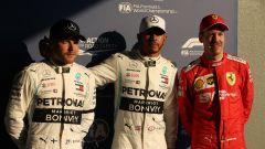 Vettel è comunque sorridente dopo il terzo posto (e i sette decimi dal poleman Hamilton) in Q3