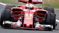 Vettel e la foratura accorsa sulla sua Ferrari a Silverstone