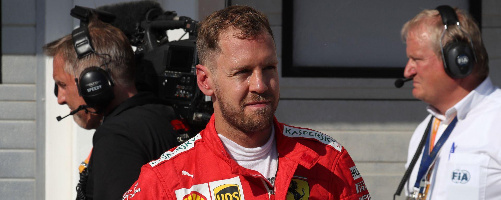 Vettel (Ferrari) dopo il GP all'Hungaroring