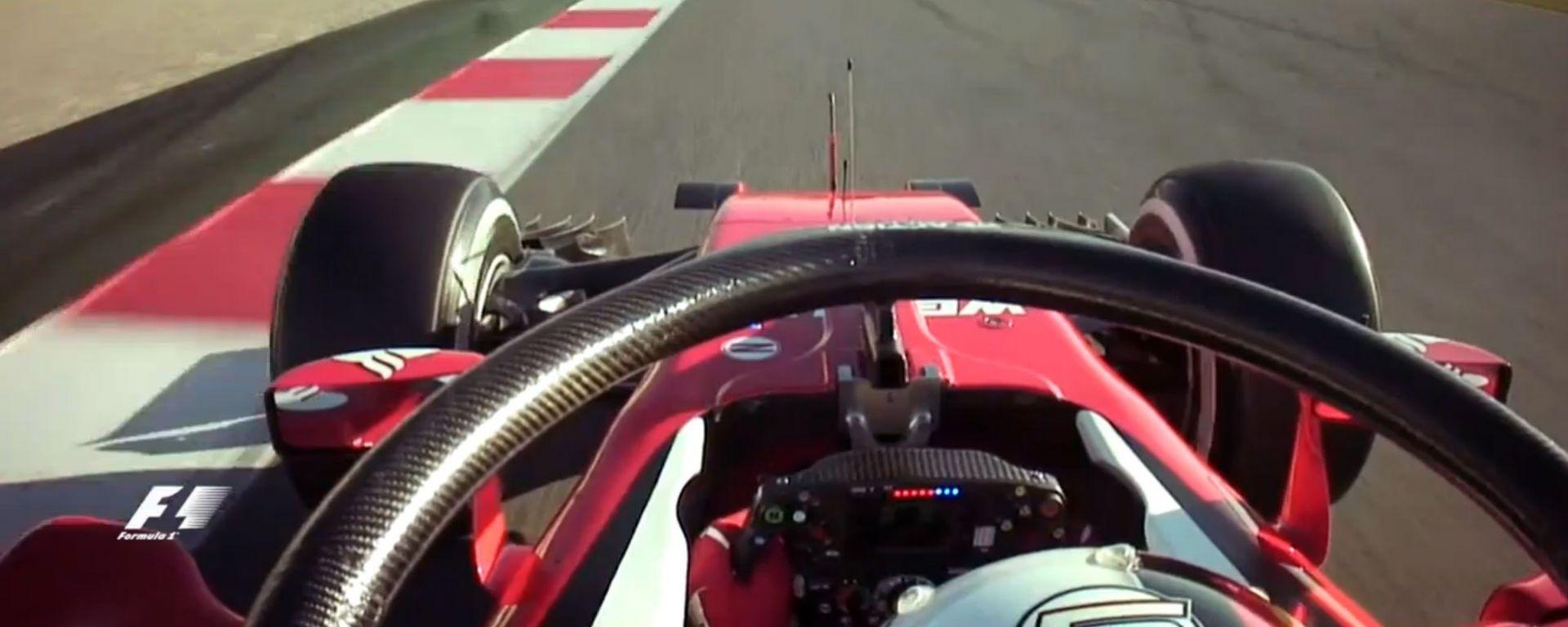 Vettel - Halo on board