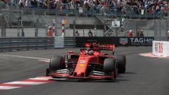Vettel in pista a Monaco