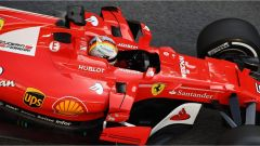 Vettel nei test pre-stagionali sul Circuit de Catalunya