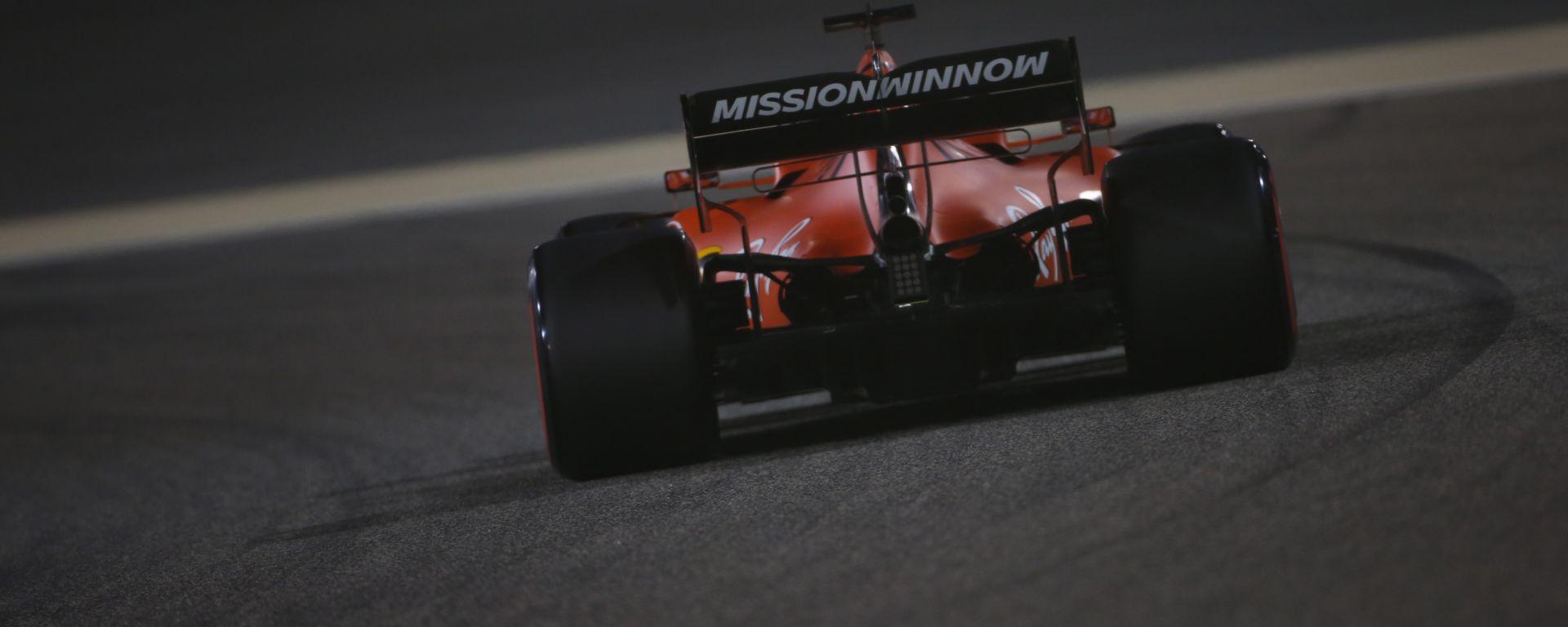 Vettel nel corso della seconda sessione di prove libere del Gp Bahrain 2019