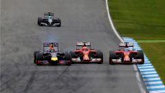 Vettel, Raikkonen e Alonso al GP di Germania