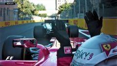 Vettel si lamenta del rallentamento di Hamilton a Baku